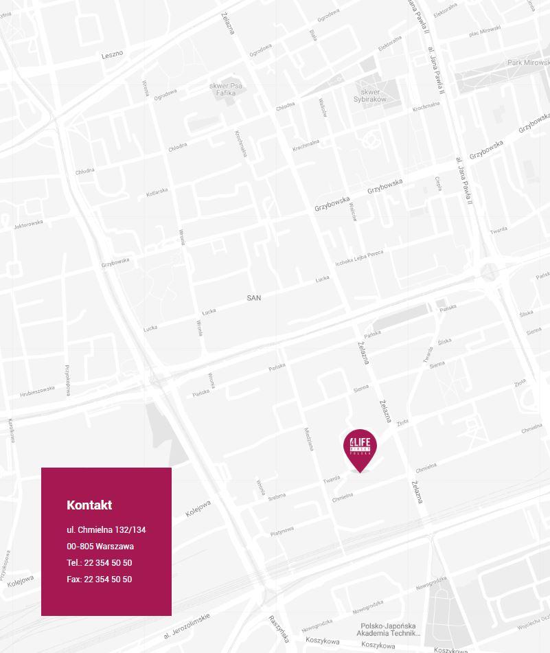 Siedziba 4Life Direct na mapie